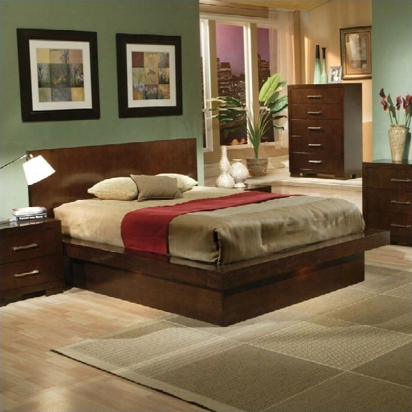 Coaster Platform Bed In Light Cappuccino Finish-queen