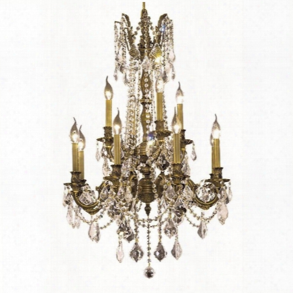 Elegant Lighting Rosalia 24 12 Light Elegant Crystal Chandelier