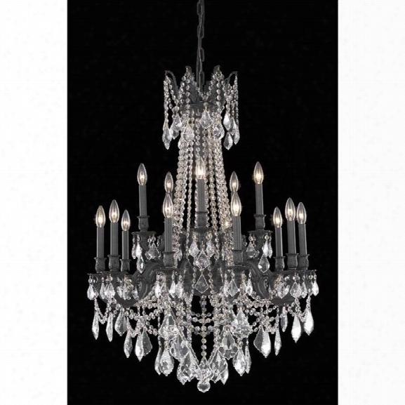 Elegant Lighting Rosalia 28 15 Light Spectra Crystal Chandelier