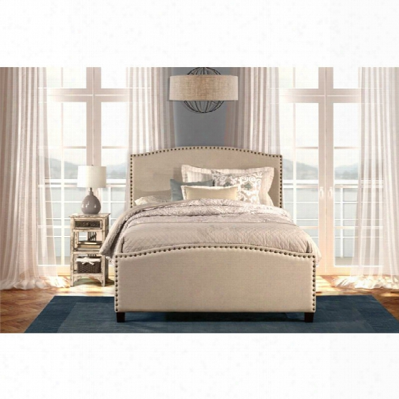 Hillsdale Kerstein Upholstered King Panel Bed In Light Taupe