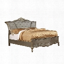 Furniture of America Calandra California King Tufted Panel Bed in Gold