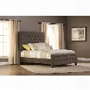 Hillsdale Kaylie Upholstered King California King Panel Bed in Pewter