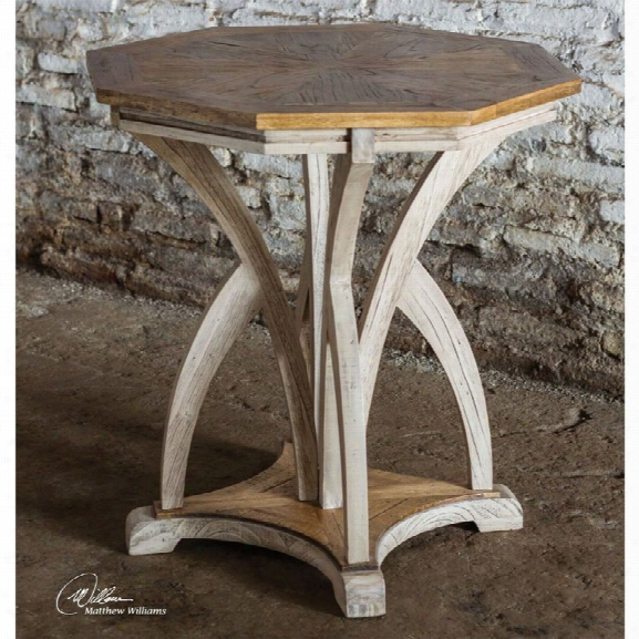 Uttermost Ranen Accent Table In Aged White