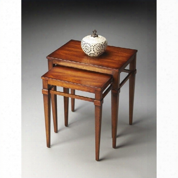 Butler Specialty Butler Loft Nest Of Tables In Antique Cherry