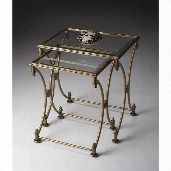Butler Specialty Nesting Tables In Antique Gold