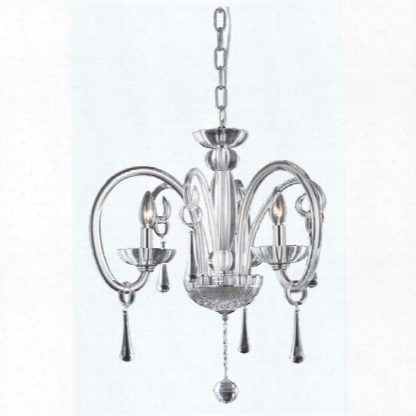 Elegant Lighting Scroll 25 3 Light Elements Crystal Chandelier
