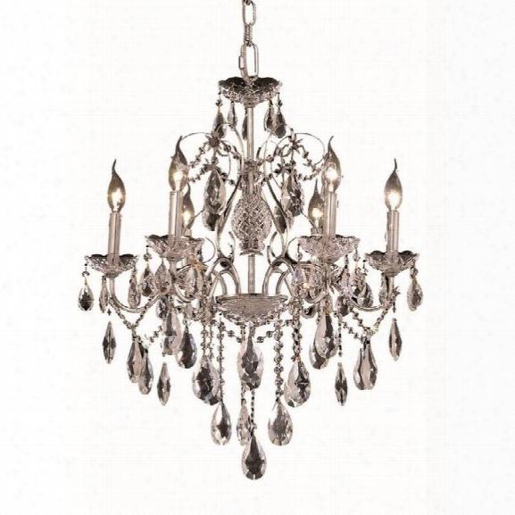 Elegant Lighting St. Francis 24 6 Light Elements Crystal Chandelier