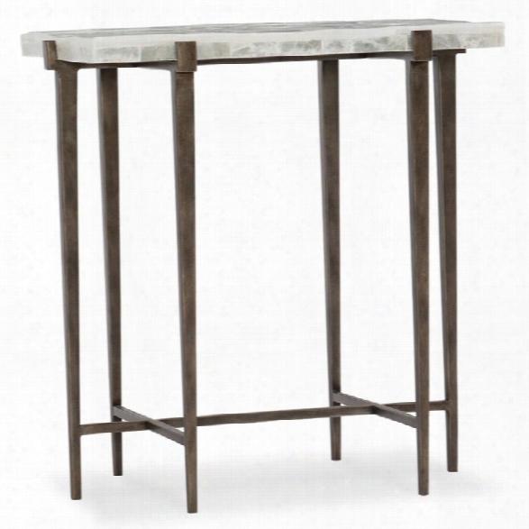 Hooker Furniture Melange Bellis Stone Top Accent Table