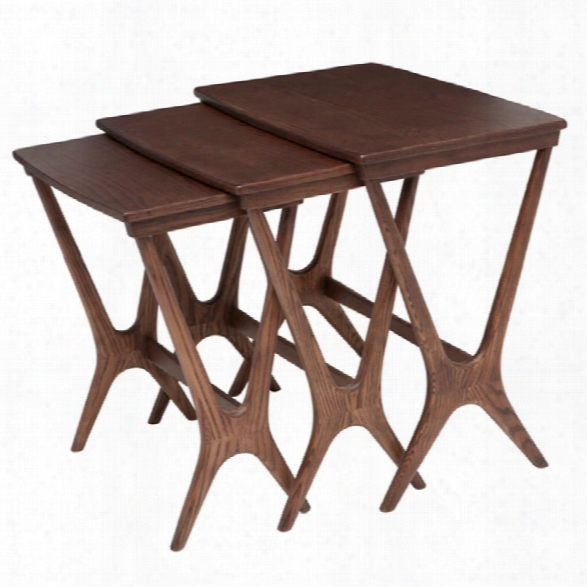 Nuevo Josef 3 Piece Nesting Table Set In Walnut