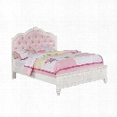 Coaster Caroline Full Diamond Tufted Bed in White