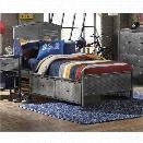 Hillsdale Urban Quarters Full Panel Storage Bed in Black Steel
