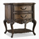 Hooker Furniture Rhapsody 2-Drawer Accent Table in Rustic Walnut