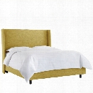 Skyline Upholstered Wingback California King Bed in Golden
