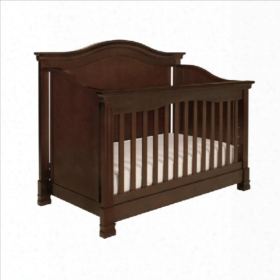 Babyletto Louis 4-in-1 Convertible Crib With Todder Aril In Espresso