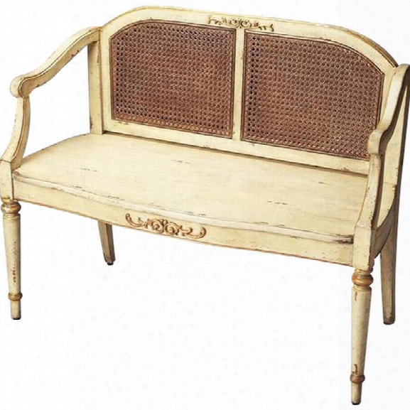 Butler Specialty Artists Originals Grayson Bench In Cream And Gold