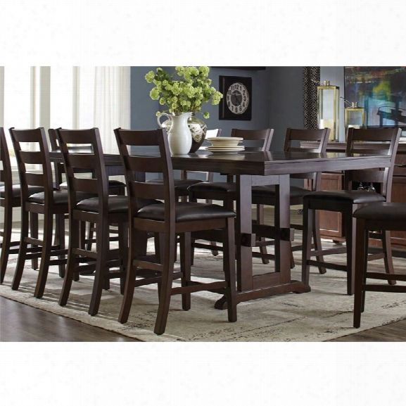 Coaster Counter Height Dining Table In Antique Tobacco