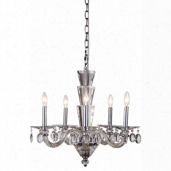 Elegant Lighting Augusta 23 5 Light Chandelier In Chrome