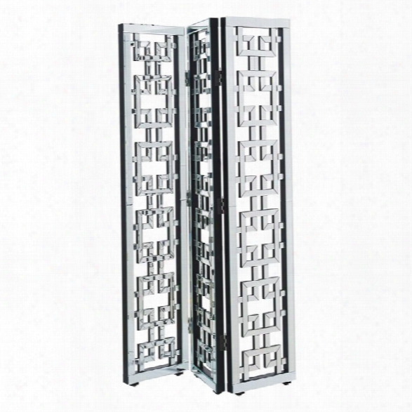 Elegant Lighting Chamberlan Mirrored Room Divider