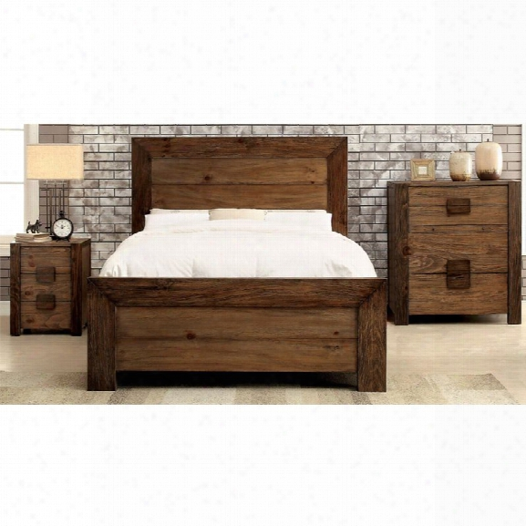Furniture Of America Drew 3 Piece Panel California King Bedroom Set