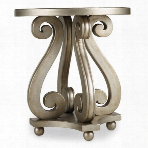 Hooker Furniture Melange Luna Accent Table In Silver Leaf