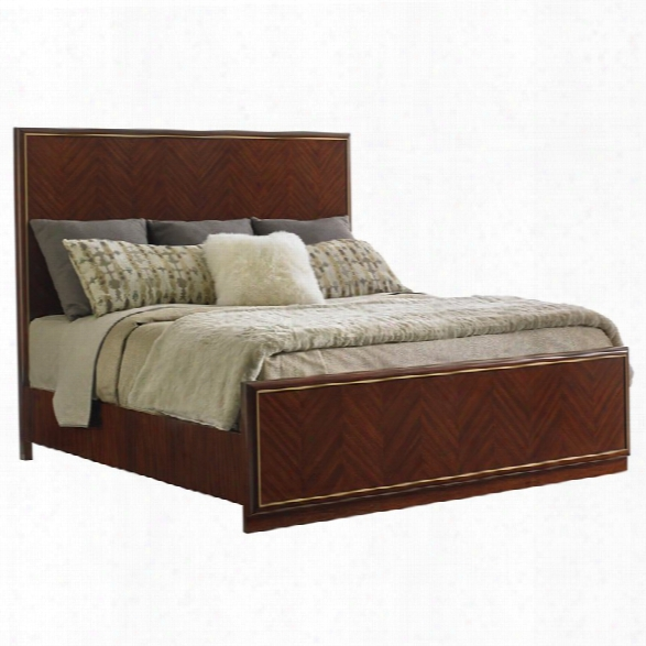 Lexington Take Five Carlyle California King Panel Bed In Hazelnut