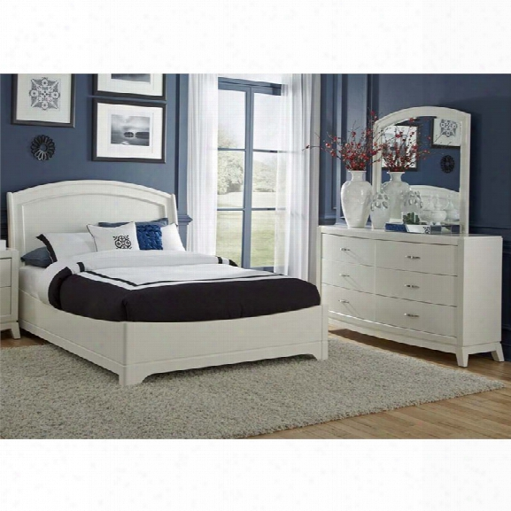 Liberty Furniture Avalon Ii 3 Piece Queen Panel Bedroom Set In White