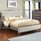 Furniture of America Maddy Wood Panel California King Bed in Gray