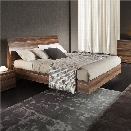 Rossetto Vela Queen Platform Bed in Walnut