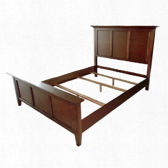 A-america Westlake King Panel Bed In Cherry Brown