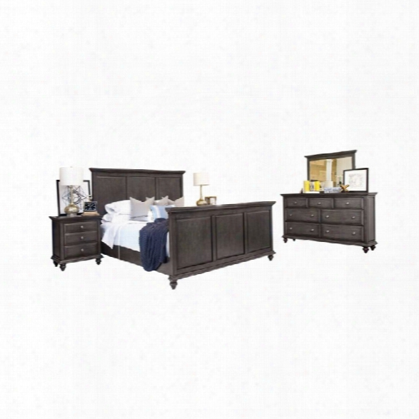 Abbyson Living Breckenridge 5 Piece King Panel Panel Bedroom Set