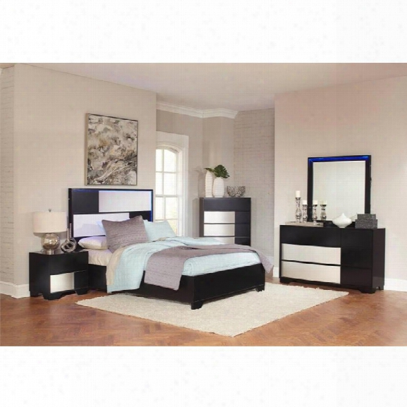 Coaster Havering 5 Piece California King Led Panel Bedroom Set