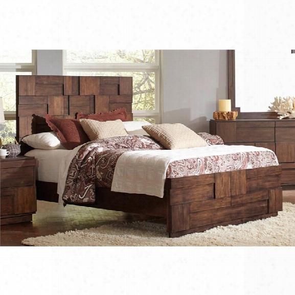 Coaster Queen Panel Bed In Golden Brown