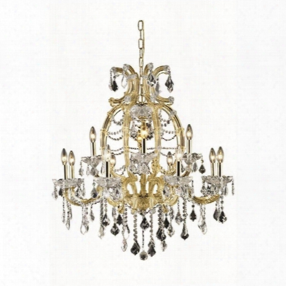 Elegant Lighting Maria Theresa 12 Light Elements Crystal Chandelier