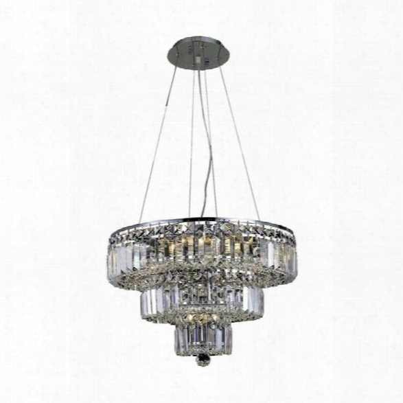 Elegant Lighting Maxime 20 9 Light Elements Crystal Chandelier