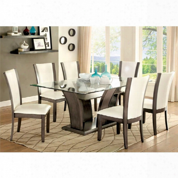 Furniture Of America Arentz Dining Table In Gray