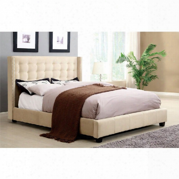 Furniture Of America Jayda King Tufted Upholstered Platform Bed