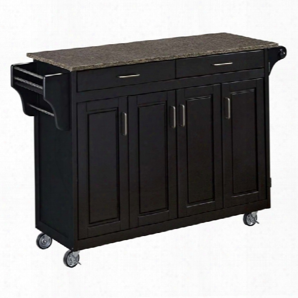 Home Styles Create-a-cart Quartz Top Kitchen Cart In Black