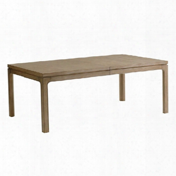 Lexington Shadow Play Concorder 80 Dining Table In Gray Elm