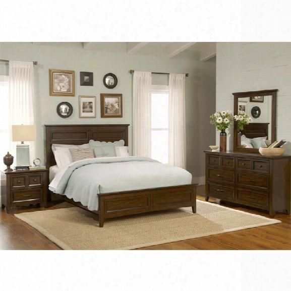 Liberty Furniture Laurel Creek 4 Piece Queen Panel Bedroom Set