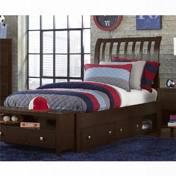 Ne Kids Pulse Full Storage Sleigh Bed In Chocolate