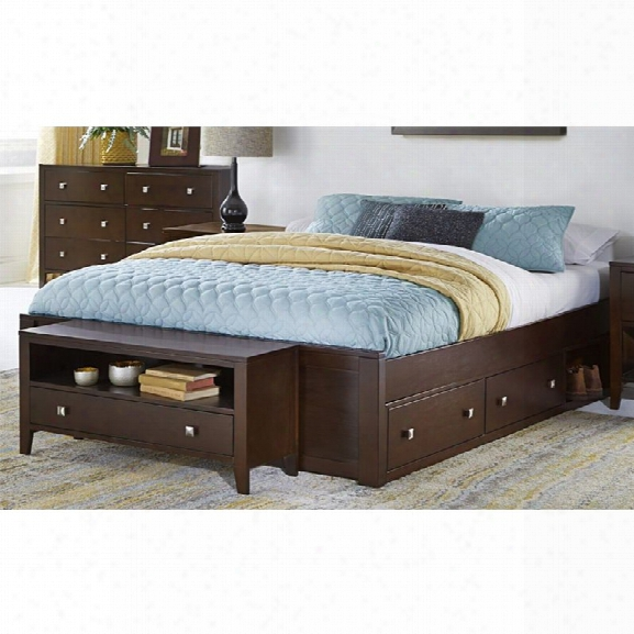 Ne Kids Pulse Queen Storage Platform Bed In Chocolate