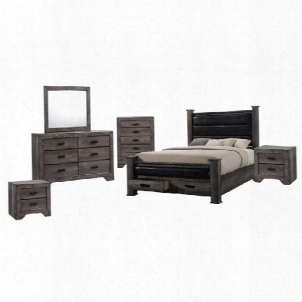 Picket House Furnishings Grayson 6 Piece Queen Poster Bedroom Set
