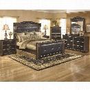 Ashley Coal Creek 6 Piece King Panel Bedroom Set in Dark Brown