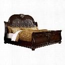 Furniture of America Strout King Bed in Brown Cherry