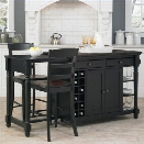 Home Styles Grand Torino Kitchen Island and Stools 3 Piece Set