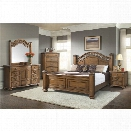 Picket House Furnishings Barrow 6 Piece King Bedroom Set in Oak