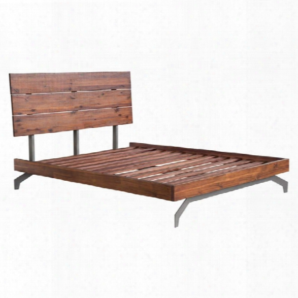 Zuo Perth Queen Panel Bed In Chestnut