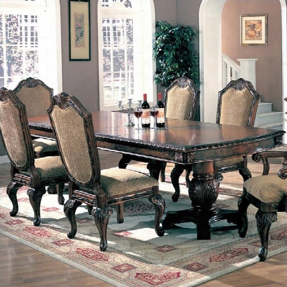 Coaster Saint Charles Double Pedestal Dining Table In Deep Brown