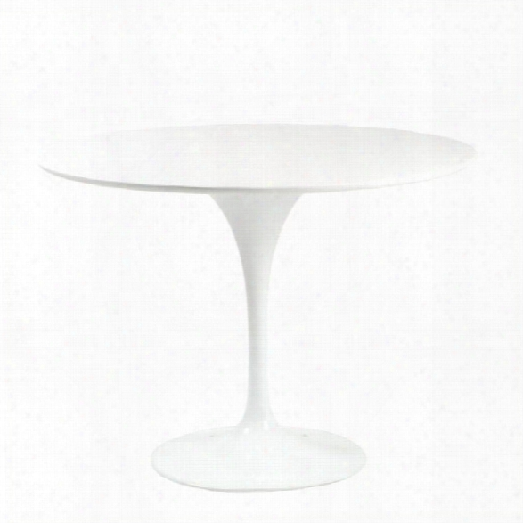 Eurostyle Astrid Dining Table In White And White