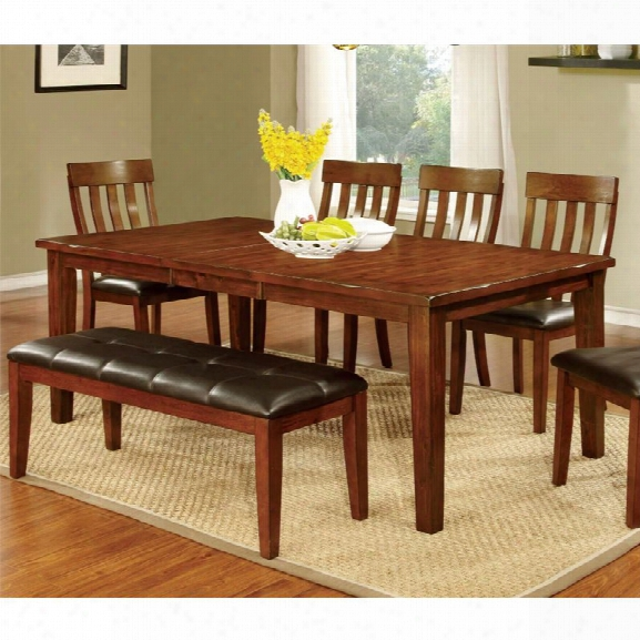 Furniture Of America Claire Extendable Dining Table In Cherry